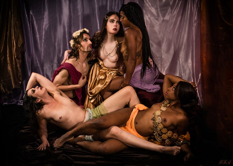 Sapphic Odes: Queen of the Priceless Pearl Artistic Nude Photo by Model Jocelyn Woods