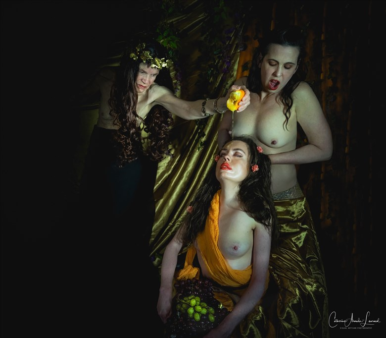 Sappho Anoints the Virgins of Lesbos Artistic Nude Photo by Model Jocelyn Woods