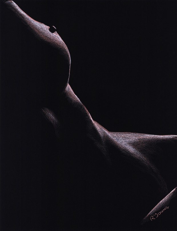 Sated Artistic Nude Artwork by Artist Richard Young