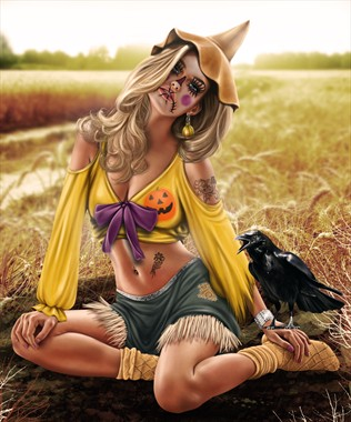 Scarecrow Fantasy Artwork by Artist Diana Gali