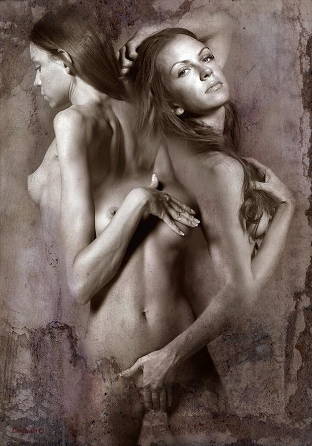 Scomposizione 01 Artistic Nude Artwork by Artist Contesaia