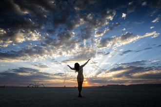 Scott London Burning Man 2017 Artistic Nude Photo by Model April A McKay