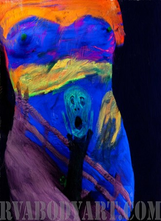 Scream Artistic Nude Photo by Photographer Richmond Body Art