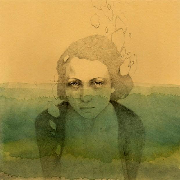 Sea Expressive Portrait Artwork by Artist Elia Fern%C3%A1ndez