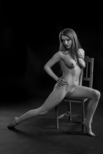 Seated Female Nude Figure Study Photo by Photographer John Logan