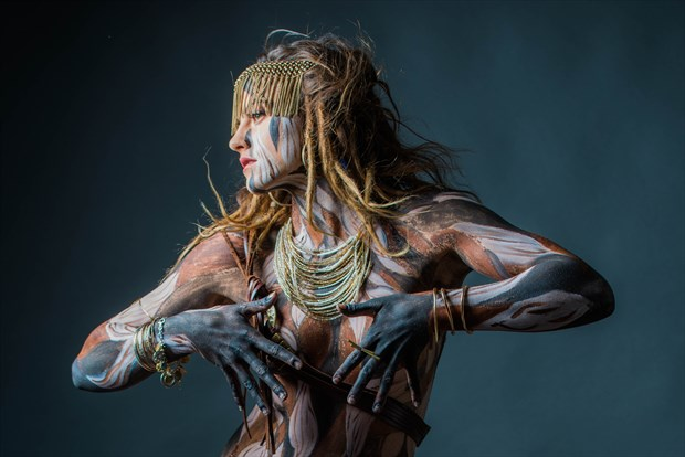 Self Painted Woman Body Painting Photo by Photographer MickeySchwartz