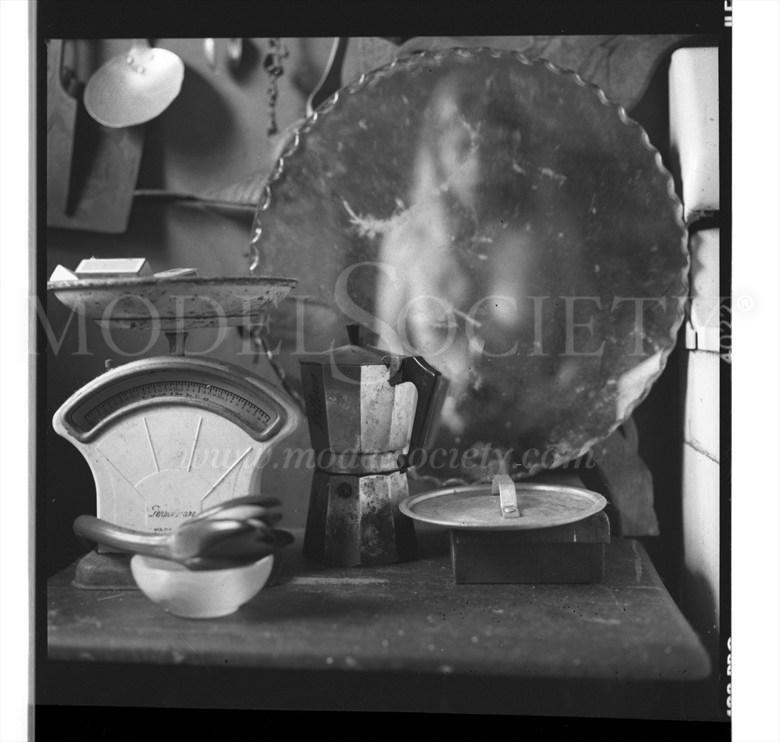 Self Portrait Mirror Nude  Figure Study Photo by Model SierraMalevich