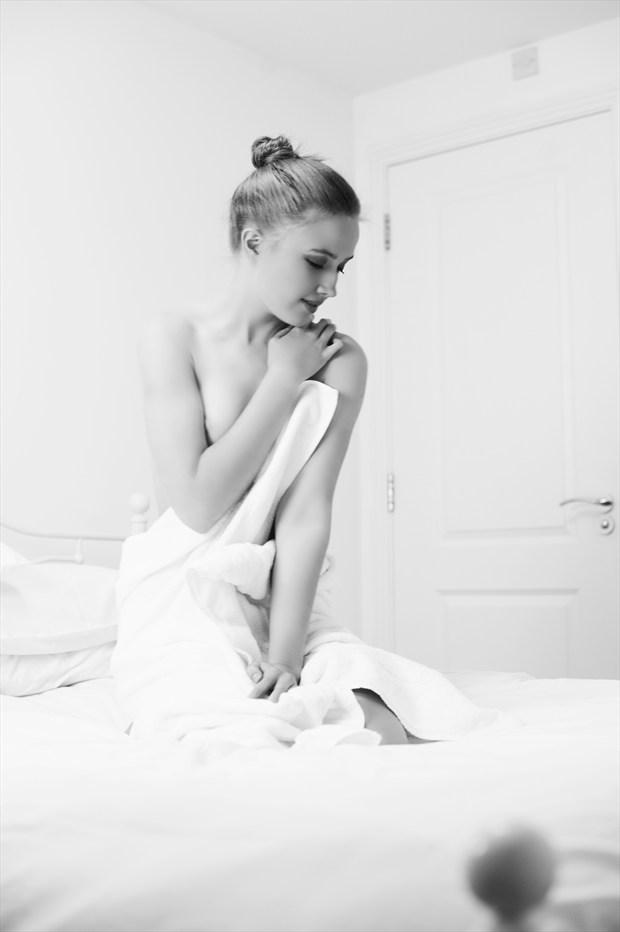 Sensual Implied Nude Photo by Model Elina