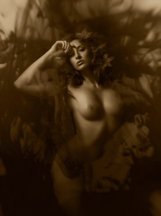 Sepia Fantasy Artistic Nude Photo by Photographer Ray Kirby