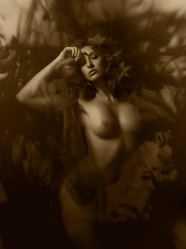Sepia Fantasy Artistic Nude Photo by Photographer Ray Kirby