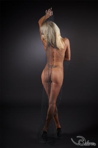 Sexy Fish Net Artistic Nude Photo by Photographer Aduro