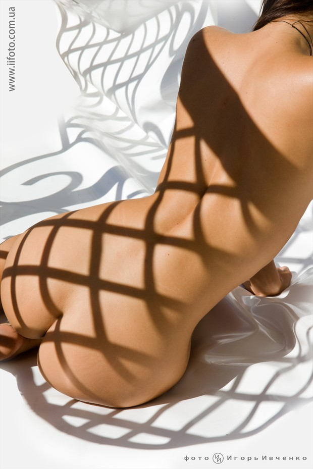 Shadow Artistic Nude Artwork by Model Anomalia