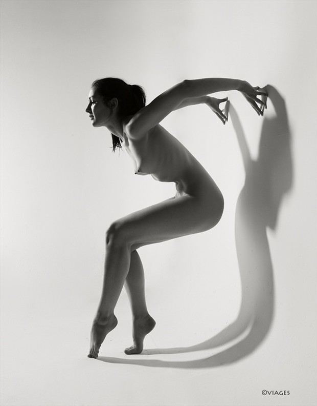 Shadow Artistic Nude Photo by Photographer Viages