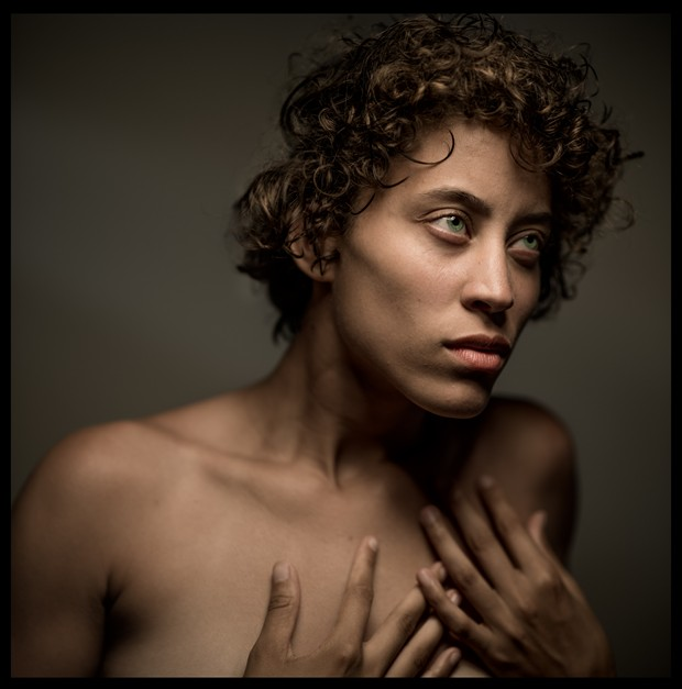 Shandra in my studio Expressive Portrait Photo by Photographer R. Michael Walker
