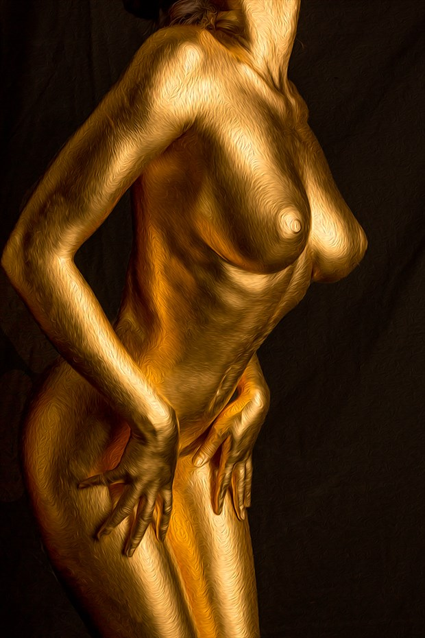 Shasta Gold IV Artistic Nude Artwork by Photographer Dan West