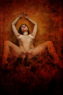 She burns Erotic Photo by Model Katz Pajamaz