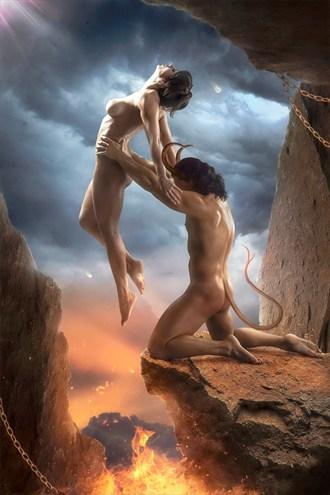 Show me the Light Artistic Nude Artwork by Artist Stanislav Star