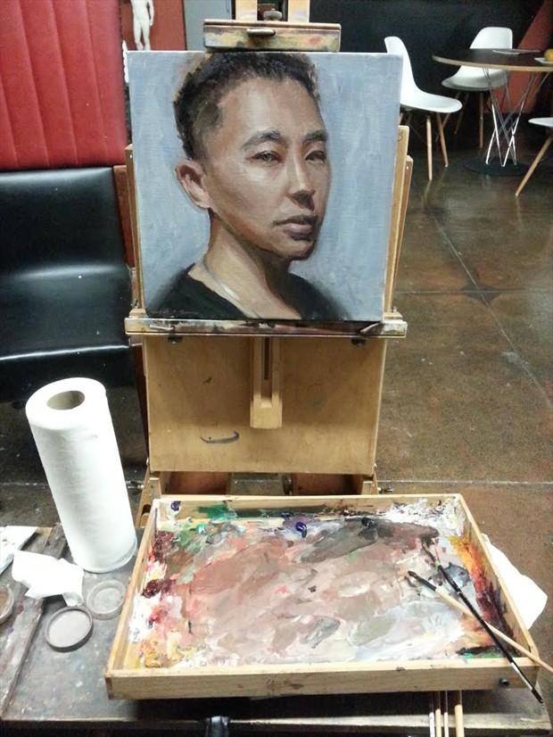 Shun Xie Self Portrait Artwork by Artist ShunXie