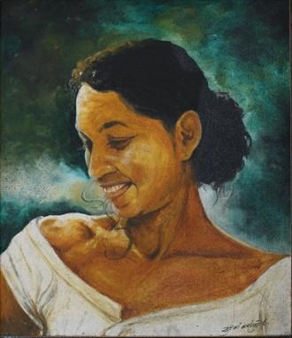 Shy  Portrait Artwork by Artist Nuwan Thenuwara
