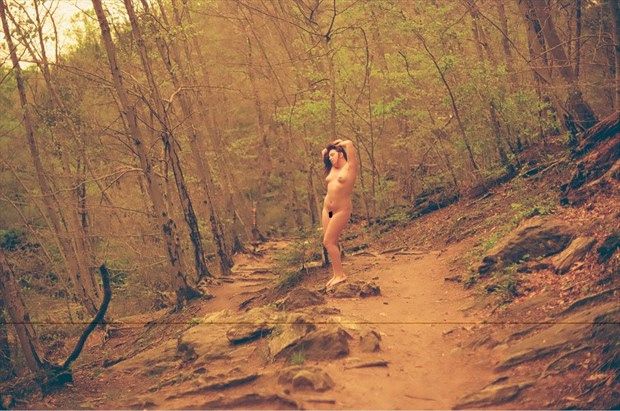Sienna Luna, on the trail to Devil's Pool Artistic Nude Photo by Photographer TheFabNears