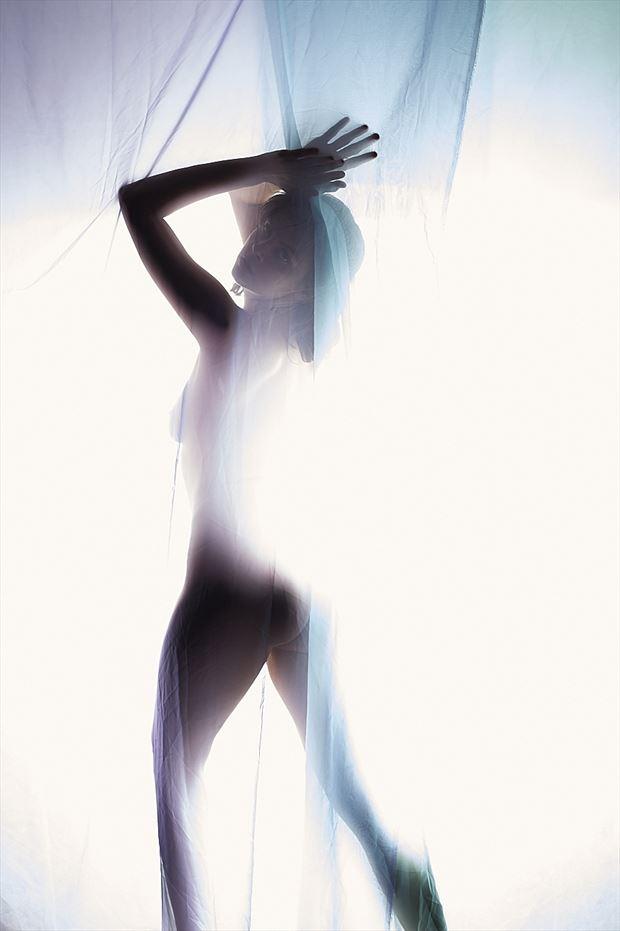 Silhouette Implied Nude Photo by Model Helen Troy
