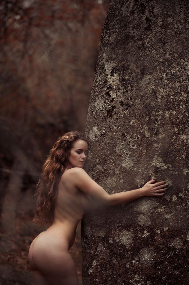 Silk & the Menhir  Artistic Nude Photo by Photographer Golding