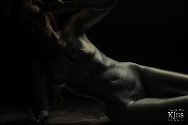Silver Artistic Nude Photo by Model Aurora Red