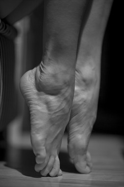 Silver Feet Figure Study Photo by Photographer Peter Le Grand