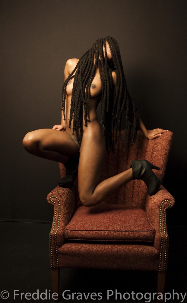 Simone and the Chair Artistic Nude Photo by Artist Freddie Graves