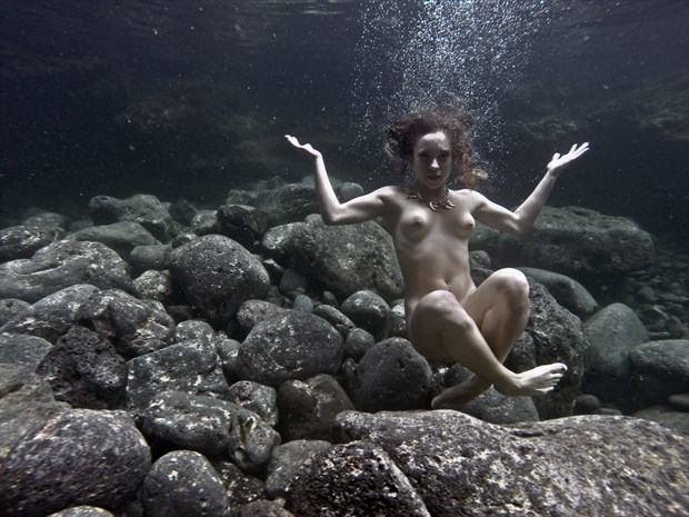 Sinking Artistic Nude Artwork by Photographer Mike