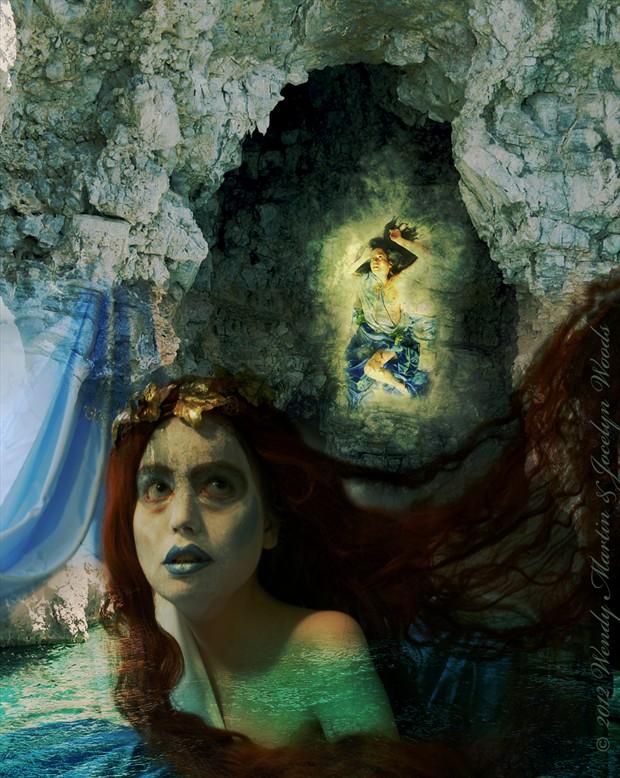 Siren's Vision Artistic Nude Artwork by Model Jocelyn Woods