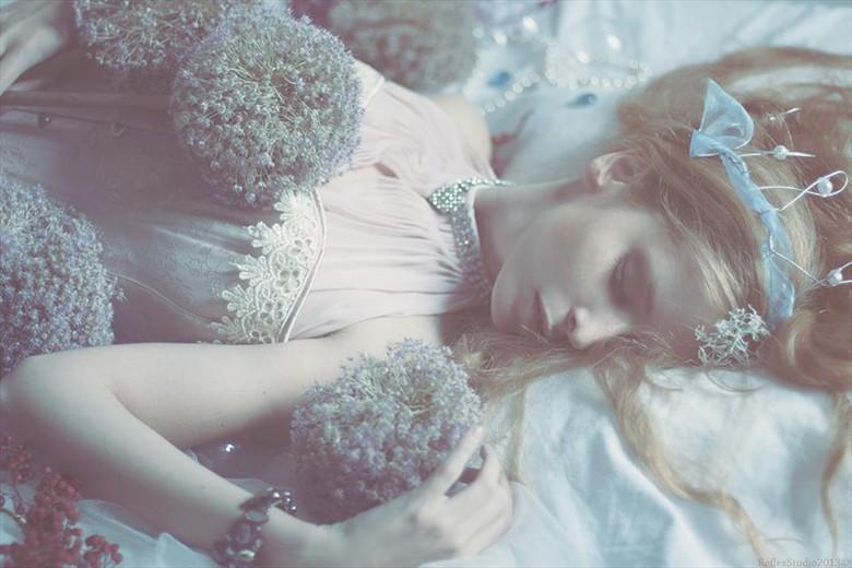 Sleeping Beauty Fantasy Photo by Model Alessandra