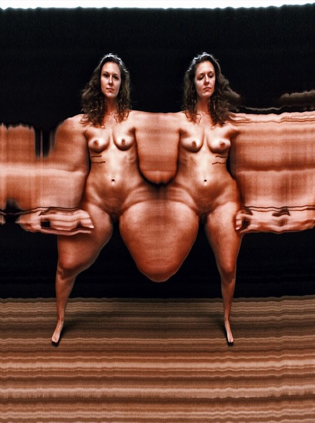 Slit scan photography Artistic Nude Photo by Photographer kunstmann
