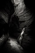 Slot Canyon Artistic Nude Photo by Model Sylph Sia