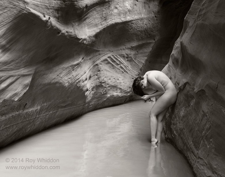 Slot Canyon Artistic Nude Photo by Photographer Roy Whiddon