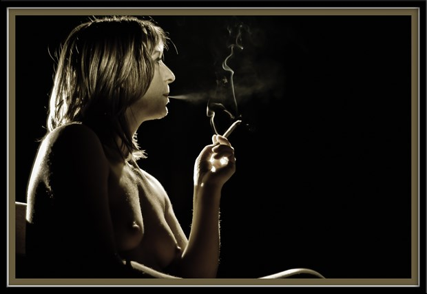 Smoke Artistic Nude Photo by Photographer Marc Naesen