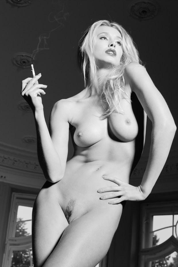 Smoking Blonde01 Artistic Nude Photo by Photographer Nic