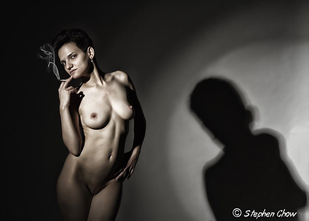 Smoking you in Artistic Nude Artwork by Model Diana Revo
