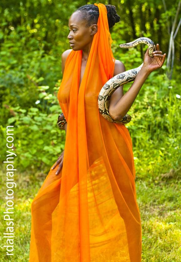 Snake Charmer Nature Photo by Model Crimson Reign