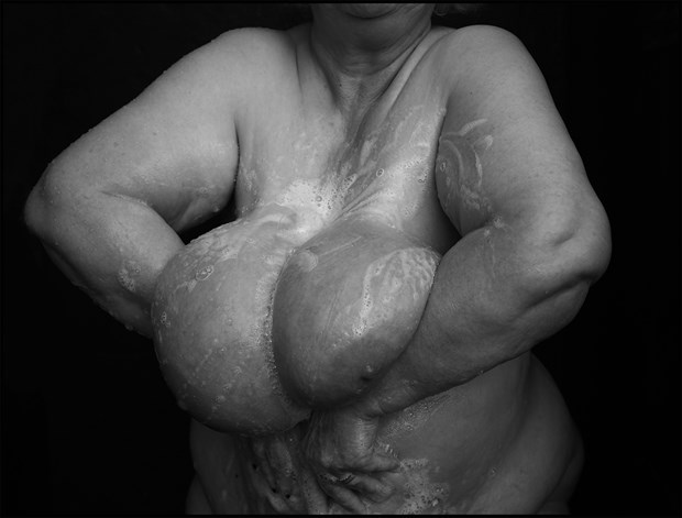 Soapy breasts 1 Artistic Nude Photo by Photographer MHMSchreiber.photo