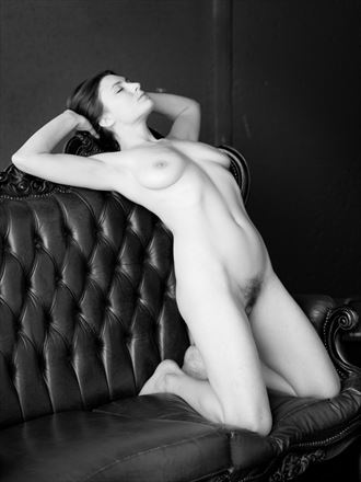 Soft Corinthian Leather Artistic Nude Photo by Model erin elizabeth