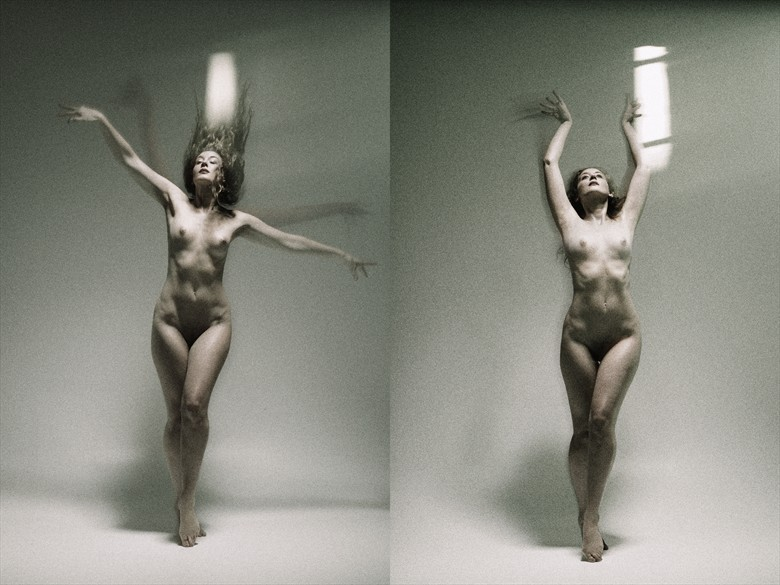 Soft Dances and a Room with Light, A Diptych Artistic Nude Photo by Photographer Mark Bigelow