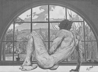Solitude Artistic Nude Artwork by Artist Robert Cottrell