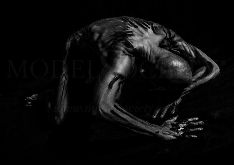 Sometimes the Darkness Wins Artistic Nude Photo by Model Avid Light