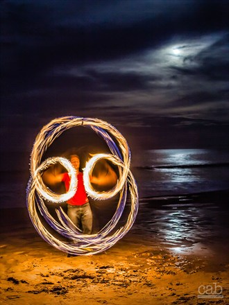 Spinning Under the Supermoon Nature Photo by Photographer cabridges