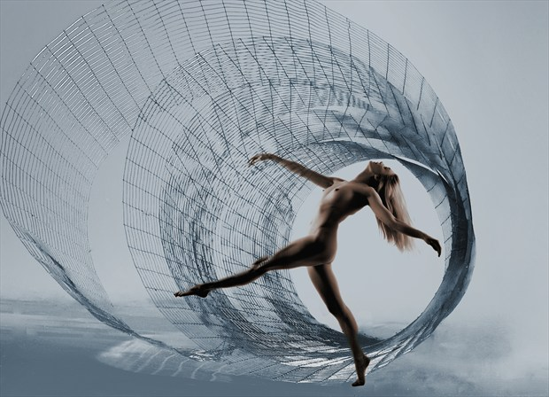 Spiral Dancer Artistic Nude Photo by Photographer Ray Kirby
