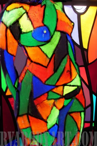 Stained Glass Artistic Nude Artwork by Photographer Richmond Body Art