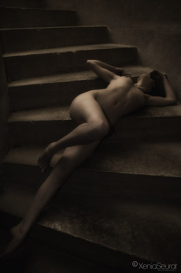 Stairs Artistic Nude Photo by Photographer Xenia Seurat