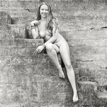 Stairway between Dreams Artistic Nude Photo by Model AnudeMuse
