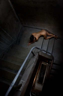 Stairwell Artistic Nude Photo by Photographer Dan West